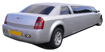 Chauffeur driven silver Chrysler 300 stretched limousine - School Proms, Birthdays, Anniversaries in Newcastle and beyond.