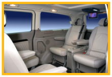 Viano People Carrier. Configured for 4 rear seat passenger and one in the front if required.